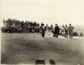 Photography:Cabinet Photos, An Imperial Size D. F. Barry Photograph - Dedication of theStanding Rock Monument- Sitting Bull. On May 20-21, 1882 at Fort...(Total: 1 Item)