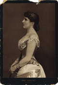 Photography:Cabinet Photos, LILLIE LANGTRY PORTRAITS - LOT OF TWO. Considered one of Britain'smost beautiful actresses, Ms. Langtry was also known to l...(Total: 1 Item)