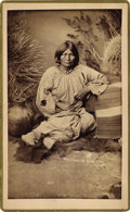 Photography:Cabinet Photos, WIFE OF COCHISE, THE APACHE WARRIOR - A. F. RANDALL PHOTOGRAPH ca1880s Toos-Day-Zay. Wife of Cochise and mother of Natches...(Total: 1 Item)
