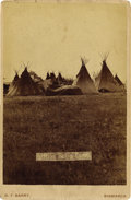 Photography:Cabinet Photos, SITTING BULL'S CAMP CABINET CARD D. F. BARRY ca 1880s Sitting Bullwas a Hunkppa Sioux leader & medicine man. Sitting Bull w...(Total: 1 Item)