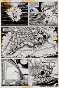 Original Comic Art:Panel Pages, Paty Greer and Bill Everett The Cat #3 Page 3 Original Art(Marvel, 1973)....