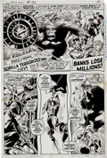 Original Comic Art:Panel Pages, Gene Colan and Bill Everett Captain America #136 Page 7Original Art (Marvel, 1971)....