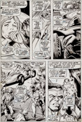 Original Comic Art:Panel Pages, Gene Colan and Bill Everett Captain America #136 Page 3Original Art (Marvel, 1971)....