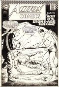 Original Comic Art:Covers, Curt Swan and George Klein Action Comics #350 Cover SupermanOriginal Art (DC, 1967)....