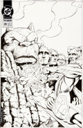 Original Comic Art:Covers, Val Semeiks and Karl Kesel The Demon V2#28 Cover SupermanOriginal Art (DC, 1992)....
