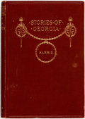 Books:Literature Pre-1900, [African-American Dialect Tales]. Joel Chandler Harris. Storiesof Georgia. New York: American Book Company, 1896. F...