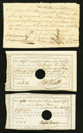 Colonial Notes:Connecticut, Connecticut 1787-89 Notes Three Examples.. ... (Total: 3 notes)