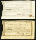 Colonial Notes:Connecticut, Connecticut Treasury Certificates Two Examples.. ... (Total: 2notes)