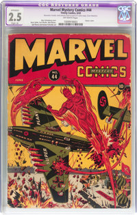 Marvel Mystery Comics #44 (Timely, 1943) CGC Apparent GD+ 2.5 Off-white pages