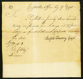 Colonial Notes:Connecticut, Connecticut Final Settlement Certificate £721 5s 2d August 17, 179040s Very Fine.. ...
