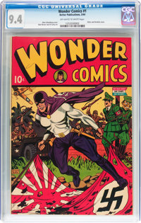 Wonder Comics #1 (Better Publications, 1944) CGC NM 9.4 Off-white to white pages