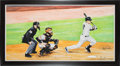 Baseball Collectibles:Others, 2014 Derek Jeter Last Yankee Stadium Hit Original Artwork by James Fiorentino....