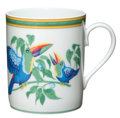 Luxury Accessories:Home, Hermes White Toucans Limoges Porcelain Mug. ...