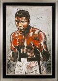 Boxing Collectibles:Autographs, Circa 2000 Muhammad Ali Signed Giclee by Stephen Holland. ...