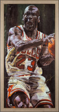 Basketball Collectibles:Others, Circa 2000 Michael Jordan Signed Giclee by Stephen Holland. ...