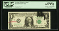 Error Notes:Ink Smears, Fr. 1901-K $1 1963A Federal Reserve Note. PCGS Choice New 63PPQ.....