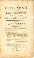 Books:Americana & American History, Lloyd, Charles: THE CONDUCT OF THE LATE ADMINISTRATION EXAMINED,RELATIVE TO THE AMERICAN STAMP-ACT. WITH AN APPENDIX CONTAI...