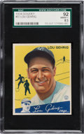 Baseball Cards:Singles (1930-1939), 1934 Goudey Lou Gehrig #37 SGC 92 NM/MT+ 8.5....