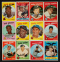 Baseball Cards:Sets, 1959 Topps Baseball Complete Set (572) With Autographed Aaron. ...