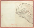 Animation Art:Production Drawing, Pinocchio Monstro Animation Drawing (Walt Disney, 1940)....