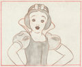 Animation Art:Production Drawing, Snow White and the Seven Dwarfs Snow White StoryboardDrawing (Walt Disney, 1937)....
