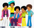 Animation Art:Production Cel, Jackson 5ive Jackie, Jermaine, Tito, Marlon, and MichaelJackson Production Cel Setup (Rankin/Bass, 1972).... (Total: 3Original Art)
