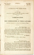 Books:Americana & American History, Texas: COMMUNICATION FROM THE COMMISSIONER OF INDIAN AFFAIRS, ANDOTHER DOCUMENTS, IN RELATION TO THE INDIANS IN TEXAS. 30th...