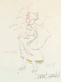 Animation Art:Production Drawing, Snow White and the Seven Dwarfs Snow White Color Model/Animation Drawing (Walt Disney, 1937). ...