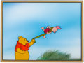 Animation Art:Production Cel, Winnie the Pooh and the Blustery Day Winnie and PigletProduction Cel Setup (Walt Disney, 1968)....
