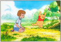 Animation Art:Production Cel, Pooh's Grand Adventure: The Search for Christopher RobinWinnie the Pooh and Christopher Robin Production Cel Setup (W...