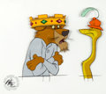 Animation Art:Production Cel, Robin Hood Prince John and Sir Hiss Production Cel Setup(Walt Disney, 1973).... (Total: 2 Original Art)