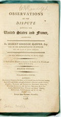 Books:Americana & American History, Harper, Robert Goodloe: OBSERVATIONS ON THE DISPUTE BETWEEN THEUNITED STATES AND FRANCE, ADDRESSED BY...ONE OF THE REPRESEN...