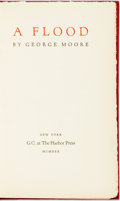 Books:Fiction, George Moore. SIGNED/LIMITED. A Flood. New York: G.C. at The Harbor Press, 1930. Limited to 185 numbered copies. S...