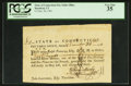 Colonial Notes:Connecticut, Connecticut Pay Table Office Certificate £2 December 26, 1781 PCGS Very Fine 35.. ...