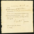 Colonial Notes:Connecticut, Connecticut Pay Table Office £14.17s.11d November 25, 1782Extremely Fine-About New.. ...