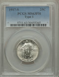 1917-S 25C Type One MS63 Full Head PCGS. PCGS Population: (218/599). NGC Census: (107/350). CDN: $600 Whsle. Bid for pro...