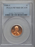 Proof Lincoln Cents, 1988-S 1C PR70 Red Deep Cameo PCGS. PCGS Population (159). NGC Census: (32). Numismedia Wsl. Price for problem free NGC/PC...