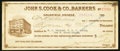 Obsoletes By State:Nevada, Goldfield, NV- John S. Cook & Co., Bankers Certificate $15.60 Jan. 30, 1914. ...