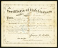 Obsoletes By State:Arkansas, Little Rock, AR- Certificate of Indebtedness $106.41 Dec. 1, 1870. ...