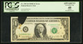 Error Notes:Ink Smears, Fr. 1907-H $1 1969D Federal Reserve Note. PCGS Apparent ExtremelyFine 40.. ...