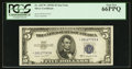 Small Size:Silver Certificates, Fr. 1657* $5 1953B Silver Certificate. PCGS Gem New 66PPQ.. ...