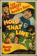 """Movie Posters:Comedy, Hold That Line (Monogram, 1952). One Sheet (27"""" X 41""""). Comedy....."""