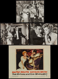 """The Prince and the Showgirl & Others Lot (Warner Brothers, 1957). Lobby Cards (8), Title Lobby Card (11"""" X 14&q..."""