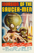 "Movie Posters:Science Fiction, Invasion of the Saucer-Men (American International, 1957). One Sheet (27"" X 41"").. ..."