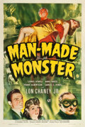 "Movie Posters:Horror, Man Made Monster (Universal, 1941). One Sheet (27.5"" X 41"").. ..."