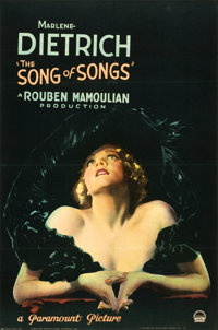 "The Song of Songs (Paramount, 1933). Full-Bleed One Sheet (26"" X 40"") Style A"