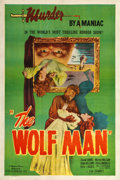 "Movie Posters:Horror, The Wolf Man (Realart, R-1948). One Sheet (27.25"" X 41"").. ..."
