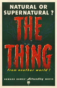 "The Thing from Another World (RKO, 1951). One Sheet (27"" X 41.25"")"