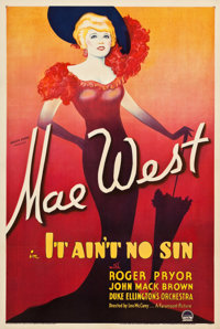 "It Ain't No Sin/The Belle of the Nineties (Paramount, 1934). One Sheet (27.25"" X 41"") Style B"