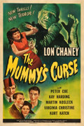 "Movie Posters:Horror, The Mummy's Curse (Universal, 1944). One Sheet (27.5"" X 41"").. ..."
